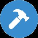 En ikon med en hammare